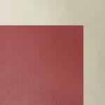 cream-burgundy pu